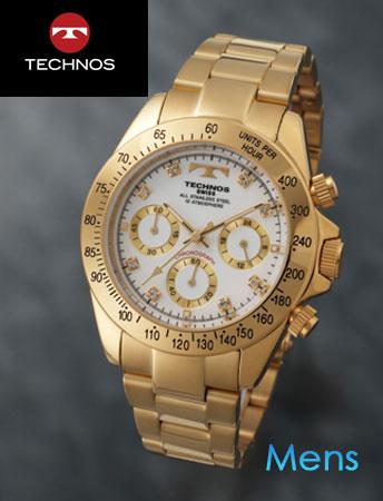TECHNOS(テクノス)スポーツクロノグラフ ホワイト(23-0315)[メンズ] e通販.com