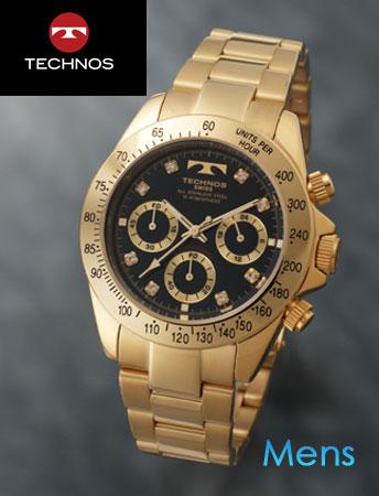 TECHNOS(テクノス)スポーツクロノグラフ ブラック(23-0316)[メンズ] e通販.com