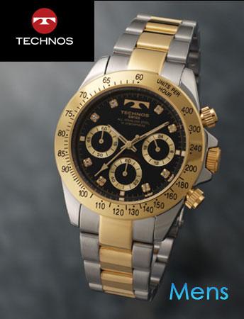 TECHNOS(テクノス)スポーツクロノグラフ ブラックコンビ(23-0318)[メンズ] e通販.com