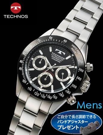 TECHNOS(テクノス)クロノグラフ クール・リミテッド(ブラック)(23-0551)[メンズ] e通販.com