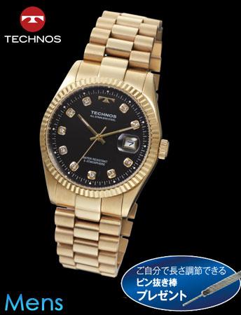 TECHNOS(テクノス)ラウンドデイト(ゴールドxブラック)(23-0578) e通販.com