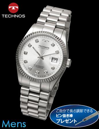 TECHNOS(テクノス)ラウンドデイト(シルバーxシルバー)(23-0579) e通販.com