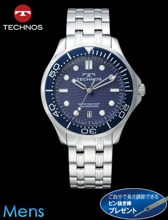 【新モデル】TECHNOS(テクノス)マリンスポーツ(シルバーxネイビー)(23-0621)[メンズ] e通販.com