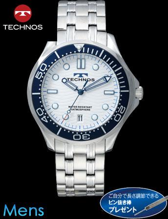 【新モデル】TECHNOS(テクノス)マリンスポーツ(シルバーxホワイト)(23-0622)[メンズ] e通販.com