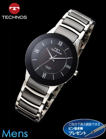 【11月新モデル】TECHNOS(テクノス)セラミックソーラー(シルバーxブラック)(23-0626)[メンズ] e通販.com