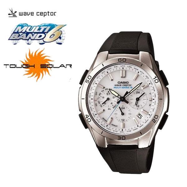 【カシオ】ソーラー(クロノ)電波時計ウェーブセプターホワイト(N6592-2)[メンズ] e通販.com