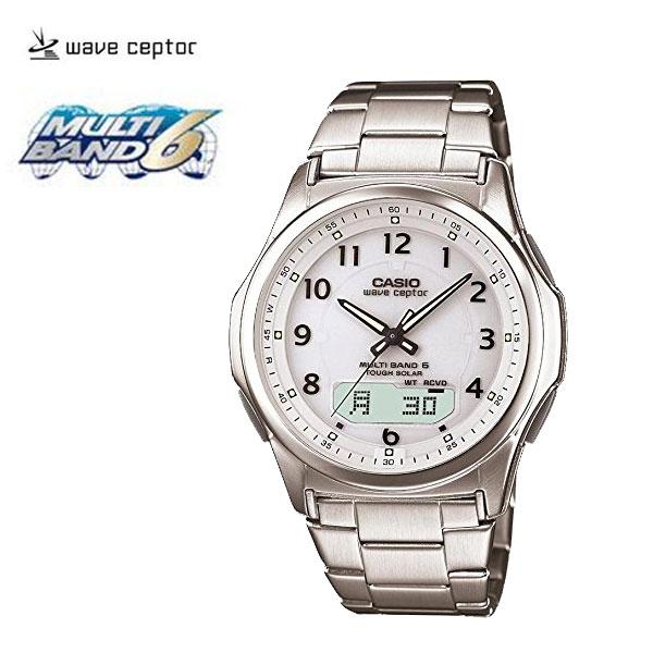 【カシオ】電波時計ウェーブセプターホワイト(N8309-2)[メンズ] e通販.com