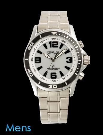 GRUSボイス電波ソーラー腕時計(ホワイト)(26-0470) e通販.com