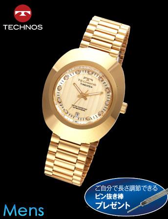 TECHNOS(テクノス)オーバルタングステン(シャンパンxゴールド)23-0586[メンズ] e通販.com